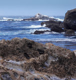 Vit vaggar av punkt Lobos Royaltyfri Fotografi