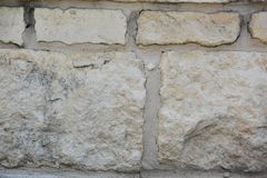 Vit vaggar tegelstenbakgrunden arkivbild