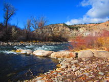 Vit-vatten flod Arkivbilder