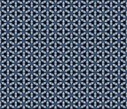 Vit vintrig abstrakt sömlös modellillustration för blått och stock illustrationer