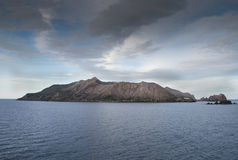 Vit vulkan NZ Royaltyfri Foto
