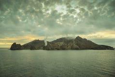 Vit vulkan NZ Arkivfoto