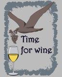vit wine stock illustrationer