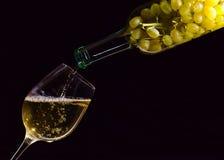 vit wine Arkivbild