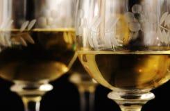 vit wine för closeup arkivfoto