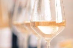 vit wine för exponeringsglas Fotografering för Bildbyråer