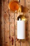 vit wine för flaska Royaltyfri Fotografi