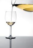 vit wine för glas Arkivfoto