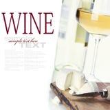 vit wine för ost royaltyfri bild
