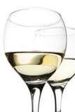 vit wine för parexponeringsglas Arkivbild