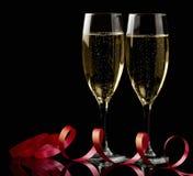 vit wine för exponeringsglas två Royaltyfri Bild