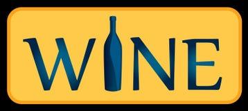 vit wine logo Det kan vara den van vid designen menyn, vinlistan, en inbjudan till en avsmakning för restaurang Royaltyfria Foton