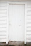 Vit wood dörr Arkivbild