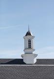 Vit Wood kupol på Asphalt Shingles Fotografering för Bildbyråer