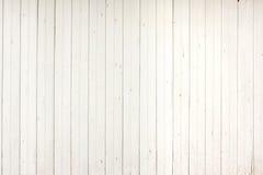 Vit Wood plankapanel Arkivfoto