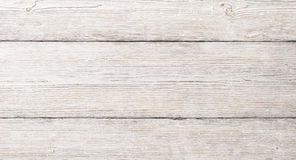 Vit Wood plankatextur, trätabellbakgrund Arkivbild