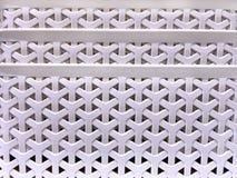 Vit Y-Shape vävd plast- korgtextur Arkivfoto