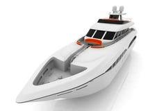 vit yacht arkivbild
