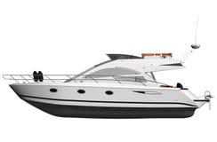 vit yacht stock illustrationer