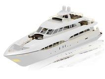 vit yacht royaltyfri illustrationer