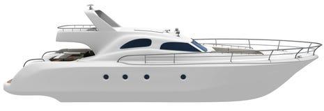 vit yacht vektor illustrationer