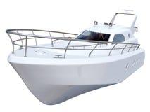 vit yacht royaltyfri bild