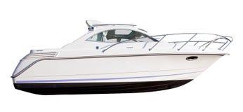 vit yacht Fotografering för Bildbyråer
