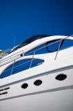 vit yacht Royaltyfri Foto