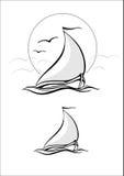 vit yacht för svart vektor för ändringssymbol enkelt stock illustrationer