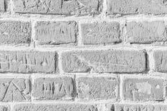 Vit yttersida för tegelstenvägg som bakgrund abstrakt texturwhite Fotografering för Bildbyråer