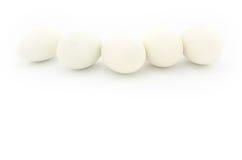 vita ägg Arkivbilder