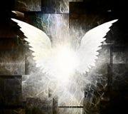 Vita ängelvingar vektor illustrationer