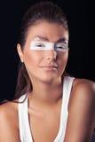 vita ögonfransögon Arkivbild