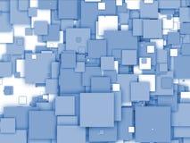 vita abstrakt blåa sqaures Fotografering för Bildbyråer