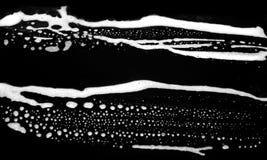 vita abstrakt svarta band Arkivbild