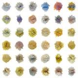 vita abstrakt vikter för färgset stock illustrationer