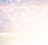 Vita abstrakta bokehljus för silver och för guld defocused bakgrund Royaltyfri Fotografi