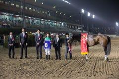 Vita Allegria segrar Marine Cup på den Funabashi racerbanan i Japan Royaltyfri Foto