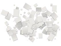 vita bakgrundsrektanglar Royaltyfri Foto