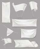 Vita baner och flaggor vektor illustrationer
