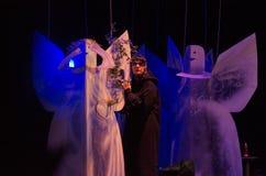 Vita bella!. DNIPRO, UKRAINE - FEBRUARY 3, 2017: Comedy Vita bella! performed by members of the Dnipro State Drama and Comedy Theatre Stock Photo