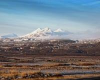 Vita berg i höst Royaltyfri Fotografi