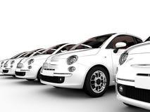 Vita bilar stock illustrationer