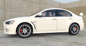 vita bilsportar Arkivbild