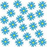 vita blåa blommor för bakgrund Vektor Illustrationer