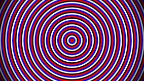Vita, blåa och röda cirklar som skapas från flaggan av Ryssland Modellanimering, ändlös loopable rörelse royaltyfri illustrationer