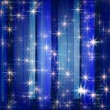 vita blåa stjärnor royaltyfri illustrationer