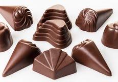 vita blandade choklader Arkivbilder