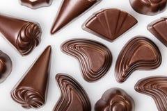 vita blandade choklader Arkivfoto