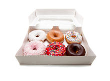 vita blandade donuts Arkivfoto